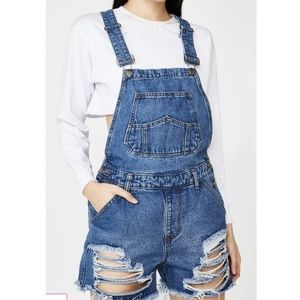 AMERICAN BAZI  Destroyed Short Overalls S